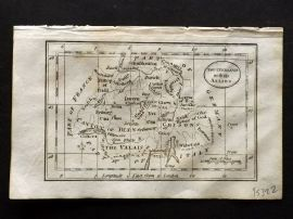 Turner 1808 Antique Miniature Map. Switzerland with its Allies